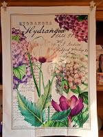 Hydrangea & Peony Kitchen Towel