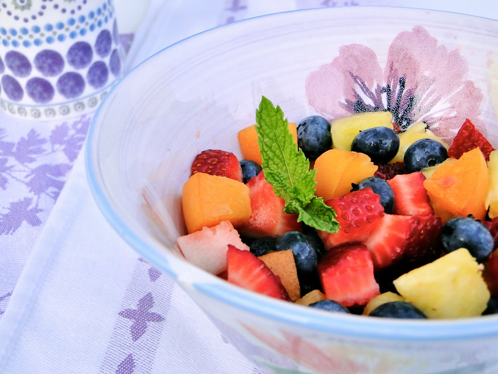 how to make syrup for fresh fruit salad