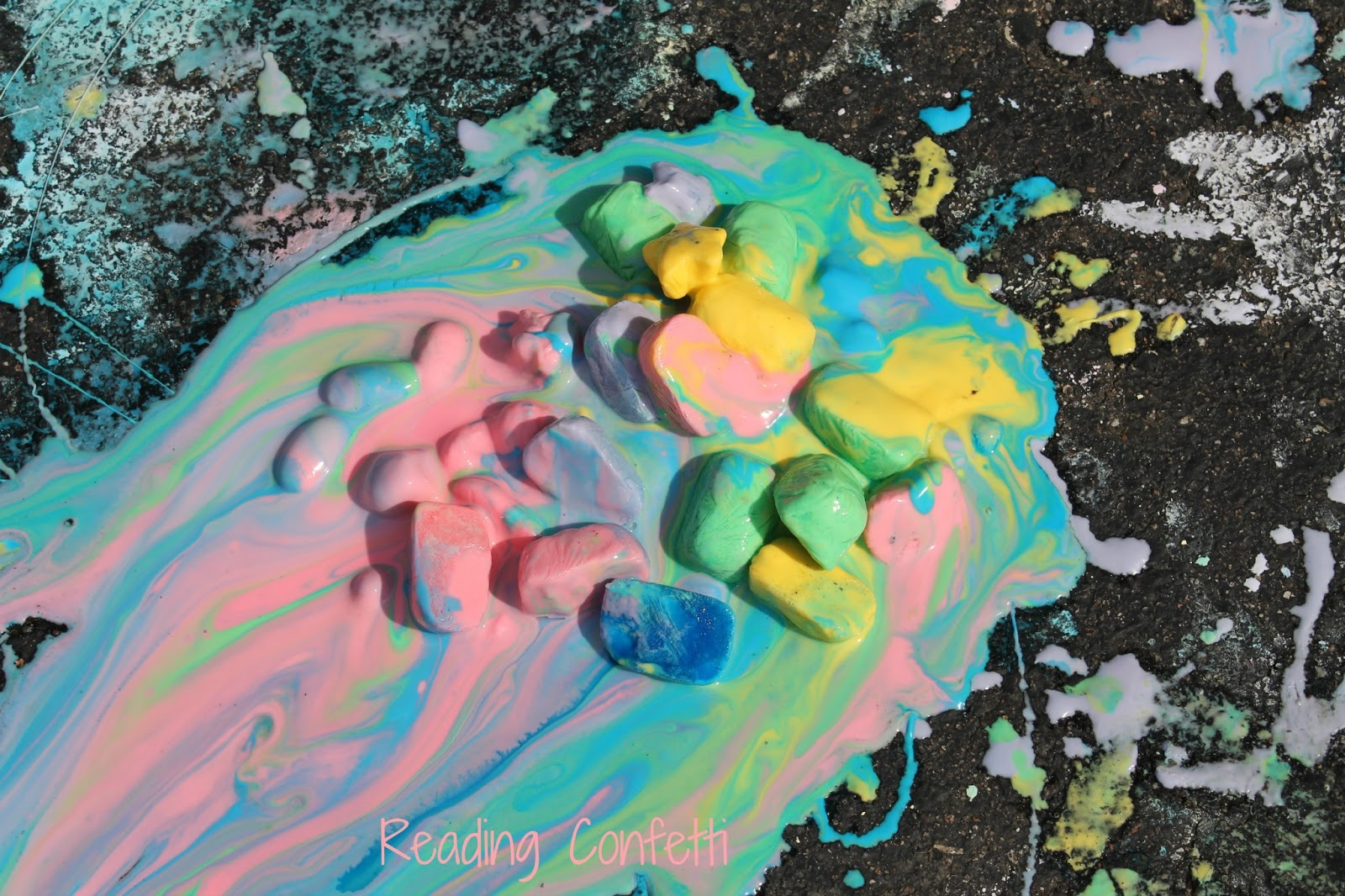 Ice chalk reading confetti - How to get exterior paint out of clothes ...
