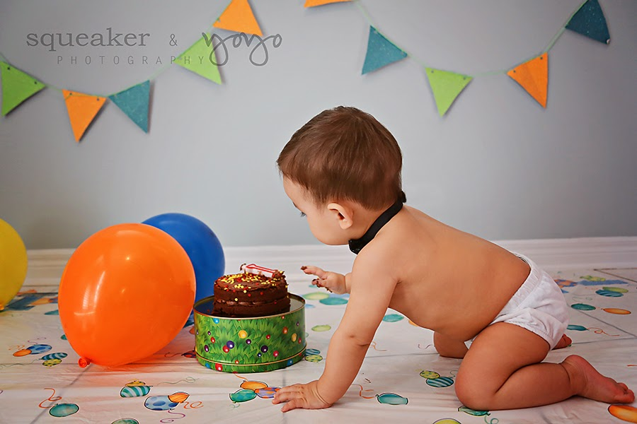 Happy First Birthday - Smash Cake in Mississauga Photography