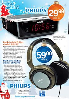 Radio budzik Philips AJ 3116 Biedronka ulotka