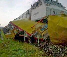 Kecelakaan Kereta Kelinci dengan KA Kaligung Mas