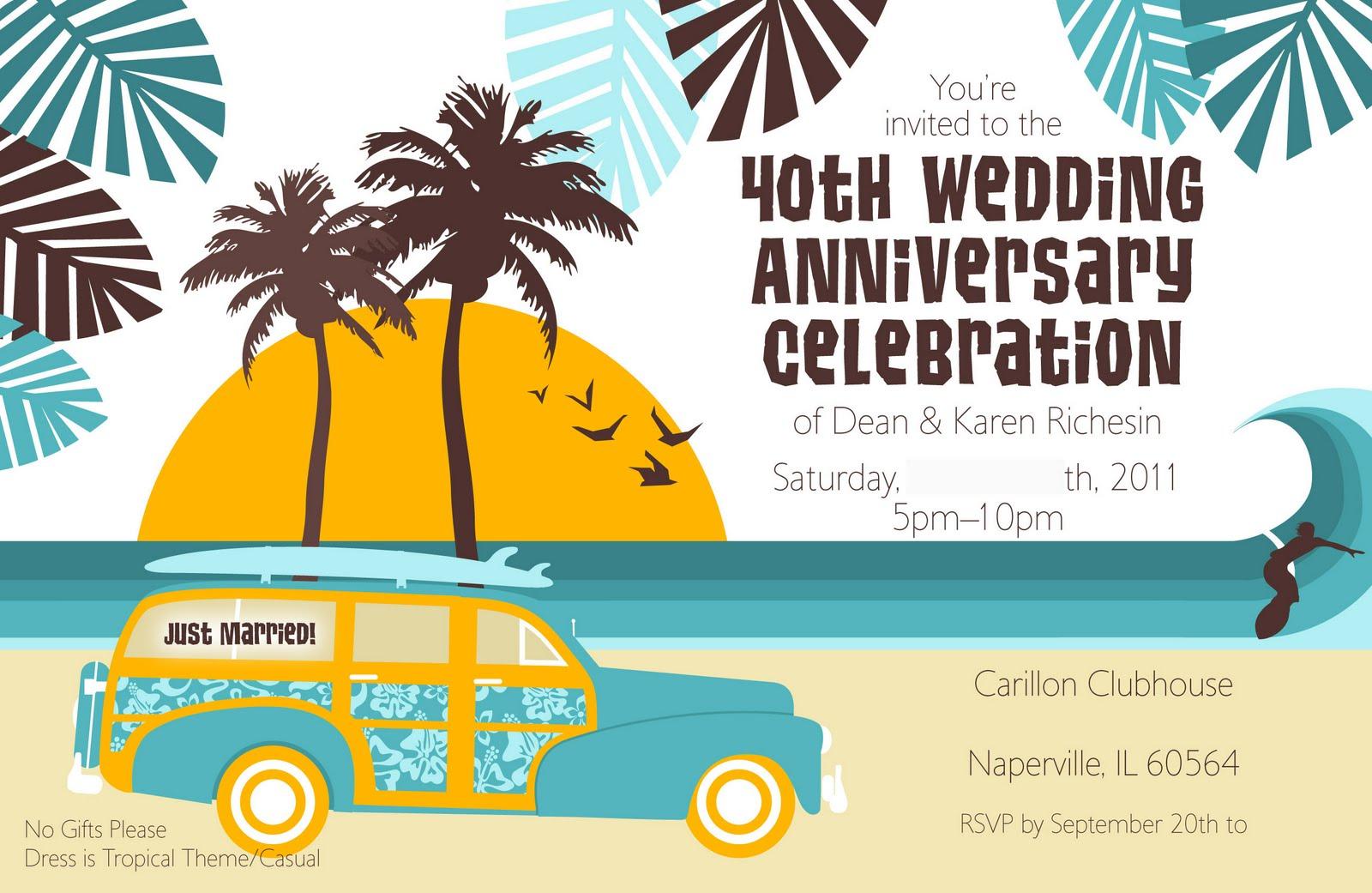 Kaleidoscope: Anniversary Invites