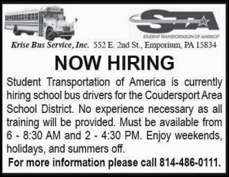 Now Hiring School Bus Drivers....#1219