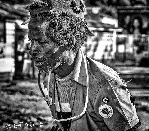 Black Person Black and White Photography