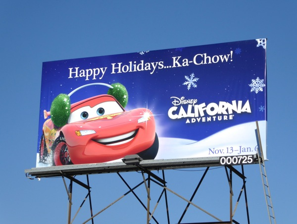 Holidays Lightning McQueen Cars Disneyland billboard