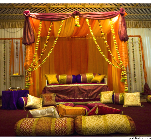 fashions 2012 2013 2014 wedding mehndi stage decoration ideas latest