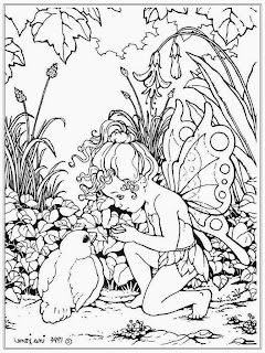 Boy And Bird Coloring Pages For Adult