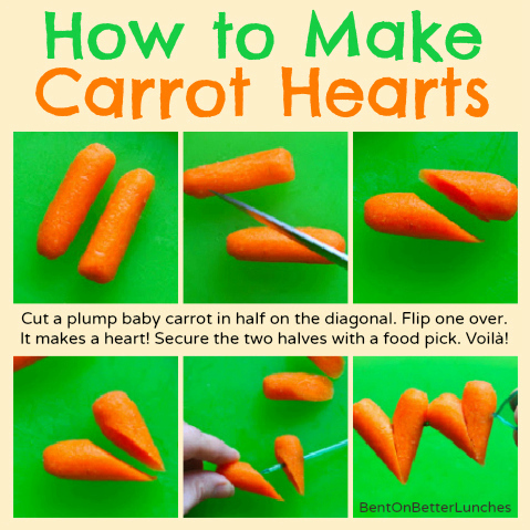How to make carrot hearts for fun lunches