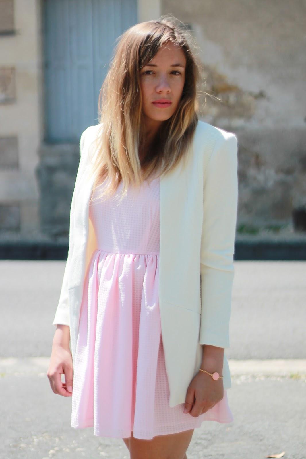 blazer blanc long