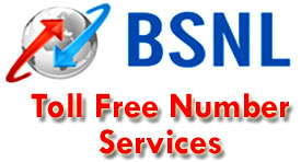 BSNL Toll Free Number Services