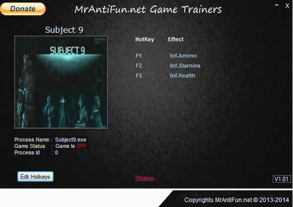 Subject 9 V4.3.4.31067 Trainer +3 MrAntiFun