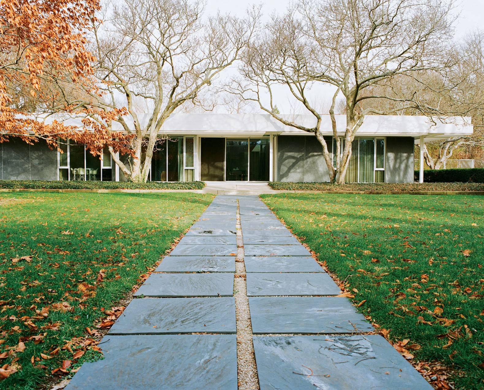 moderne Architektur von Eero Saarinen - das Miller House in Columbus, Indiana