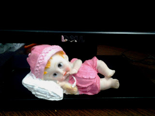 dolls IT cubicle decoration cute colorful indian enjoy workplace be happy at work baby doll sleeping pink color
