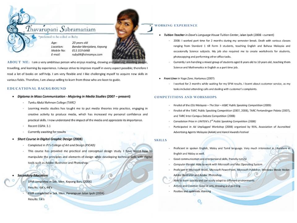 ... Colored Backgrounds Like This.  Resume Tips