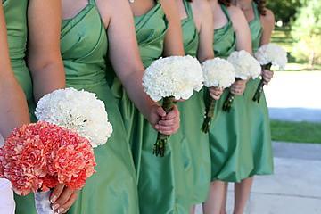 Bouquet Bridal White Carnation Bouquets