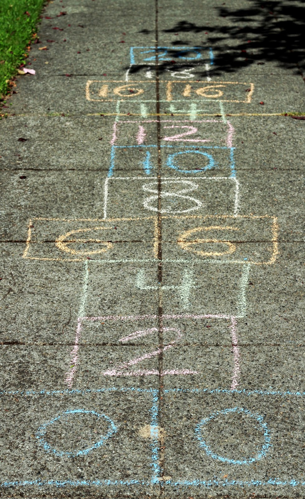 Skip Counting with Sidewalk Chalk - Playdough To Plato