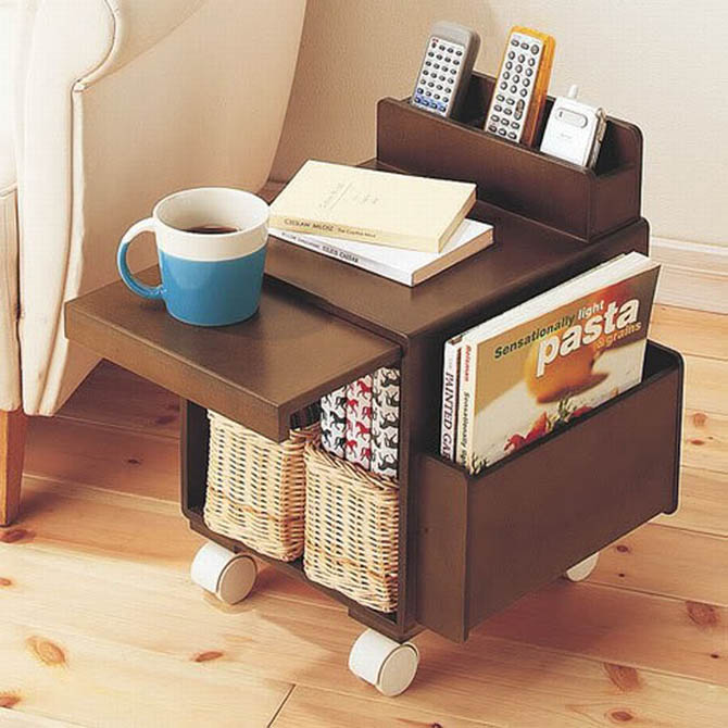 tiny table furniture shelving design