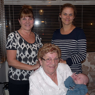 Freddie with Mummy, Nanny and Great Grandma