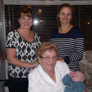 Freddie with Mummy, Nanny and Great Grandma