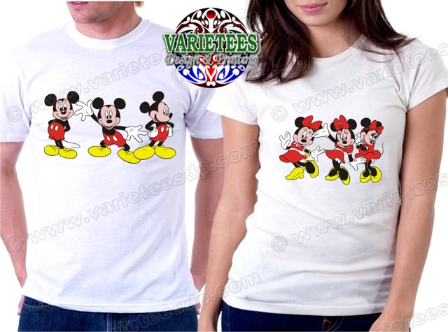 Mickey Mouse Minnie Mouse Couple Shirts