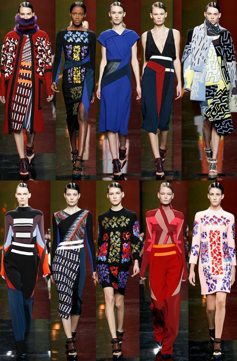 Peter Pilotto fall winter 2014 runway collection, FW14, AW14, LFW, London fashion week