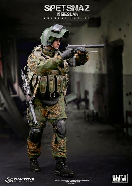 One Sixth Military Figure Dam Toys Spetsnaz In Beslan