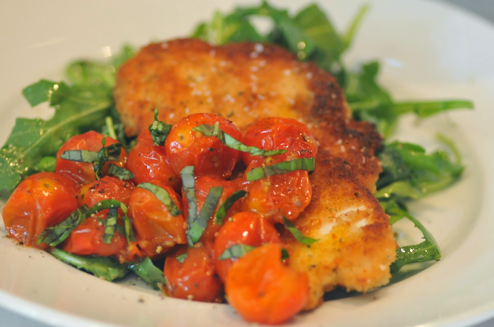 NINE + SIXTEEN: Recipe | Chicken Milanese with Arugula ...