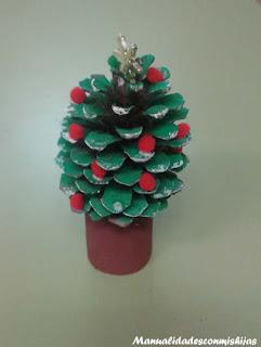 Piñas para adornar la navidad
