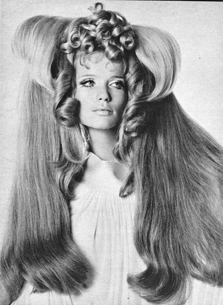 vintage hair 60s hairstyle black white vogue