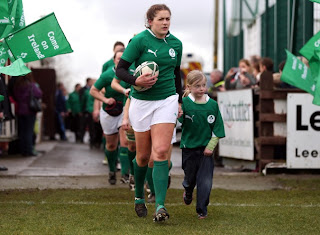 Fiona Coughlan Ireland's female rugby captain