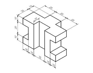 MAESTROS DEL WEB: ISOMETRICOS ( practica en 3d en CAD)
