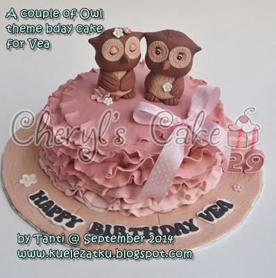D Owl Cake Topper