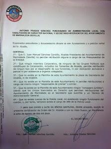 CIRCULAR DEL AYUNTAMIENTO D E MARINALEDA /SEVILLA