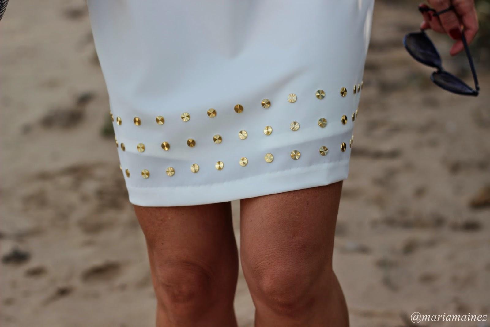 LWD - Blanco y dorado - Vestido Gaudí