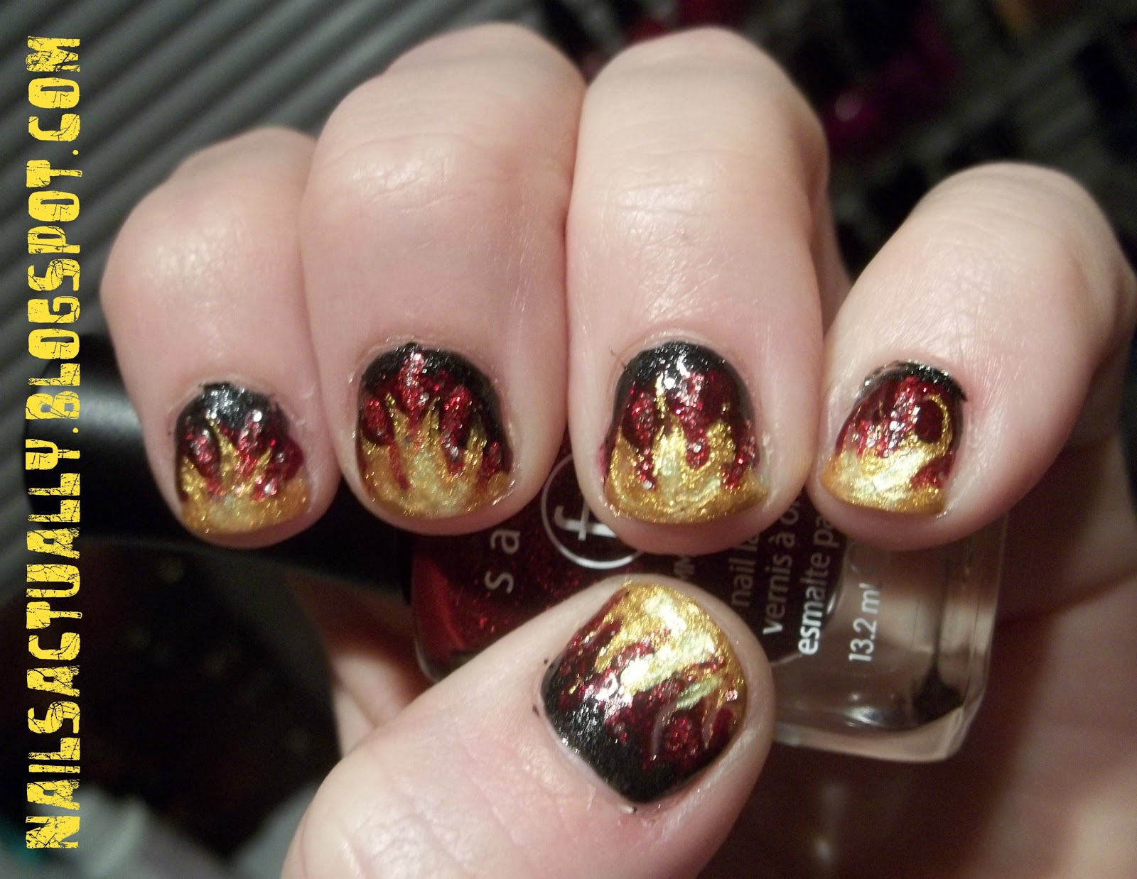 Nails Actually: Couldn\'t Resist: Hunger Games Flame Nails