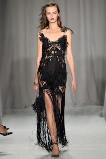 robe haute couture dentelle noir satin perles soie mousseline vanessa lekpa Georgina Chapman et Keren Craig