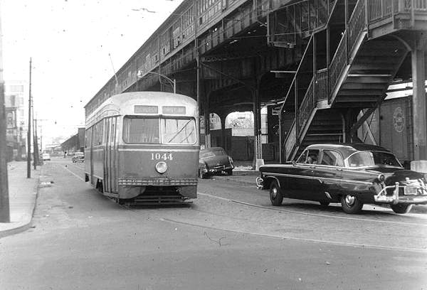 streetcars and spatial analysis church avenue pcc car at 37 th street and 13 th avenue bklyn 1950 39 s. Black Bedroom Furniture Sets. Home Design Ideas