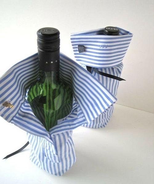 Mangas de camisa | Traje de botella de vino