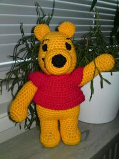 virka nalle puh, crochet winnie the pooh