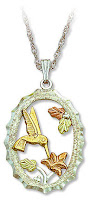 Black Hills Silver hummingbird pendant