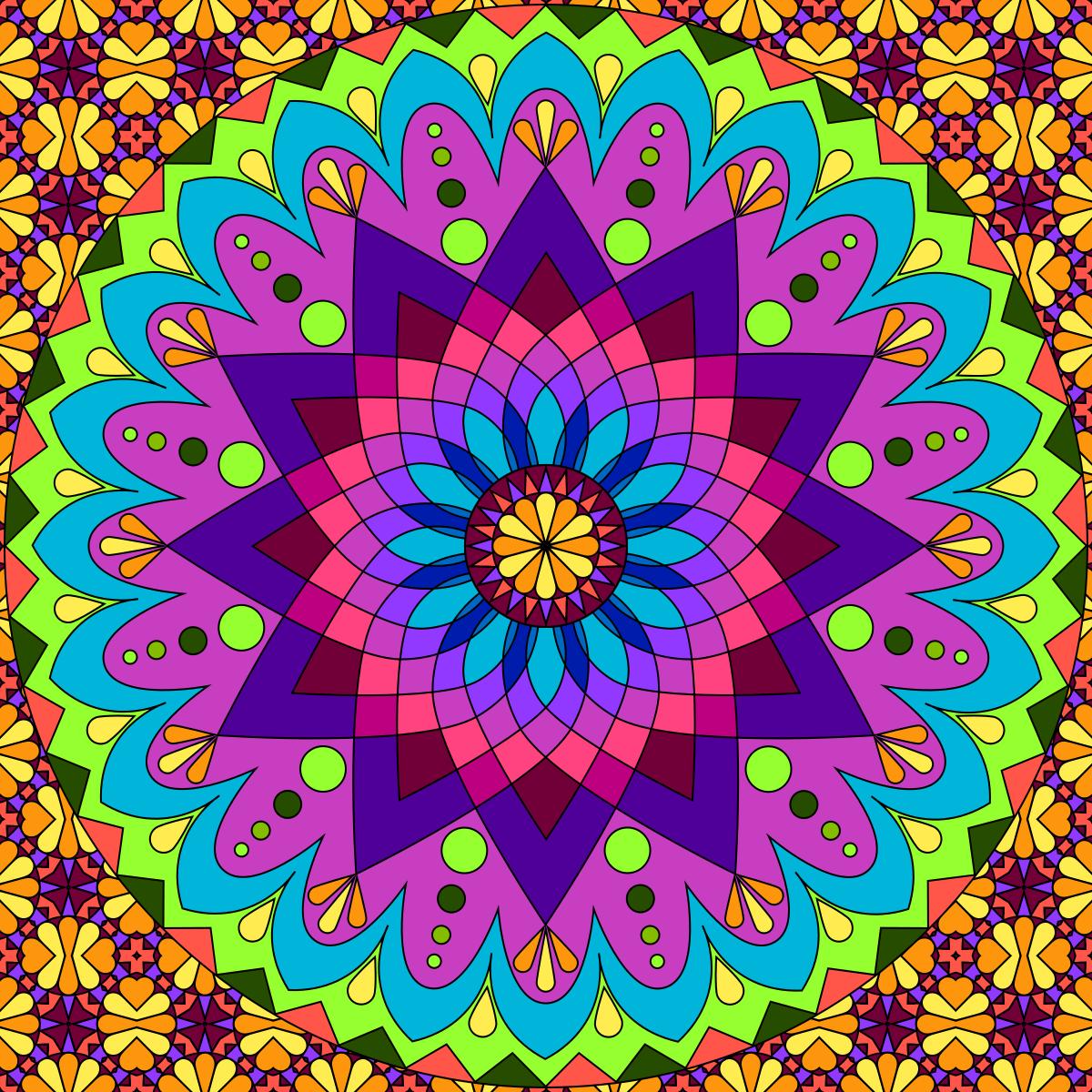 Don 39 t eat the paste mandala to color - Mandalas en colores ...