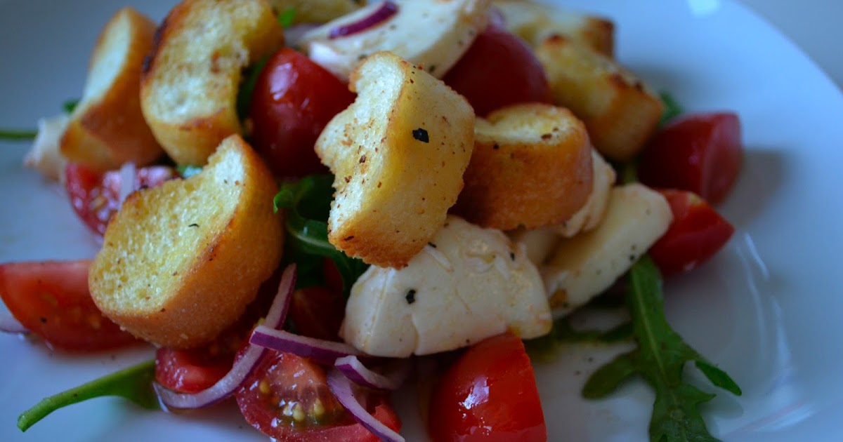 gute nahrung macht gl cklich tomaten brot salat mit mozarella. Black Bedroom Furniture Sets. Home Design Ideas