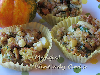 stuffing in muffin pan