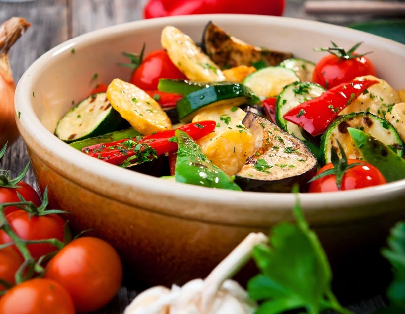 Legumes Assados (vegana)