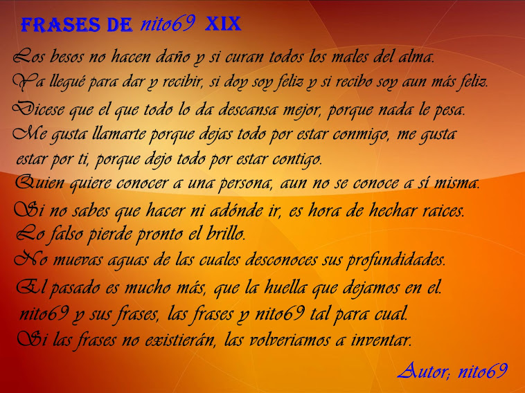 FRASES DE nito69 XIX