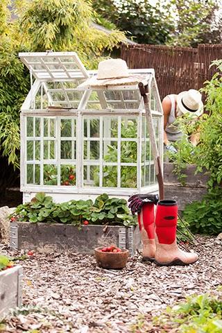Växthus till pallkrage