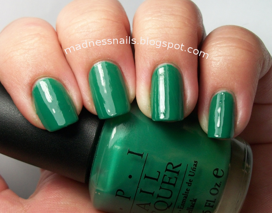 Madness Nails: OPI Jade Is The New Black Swatch