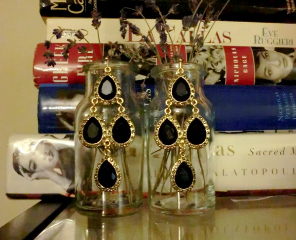 Target black teardrop earrings