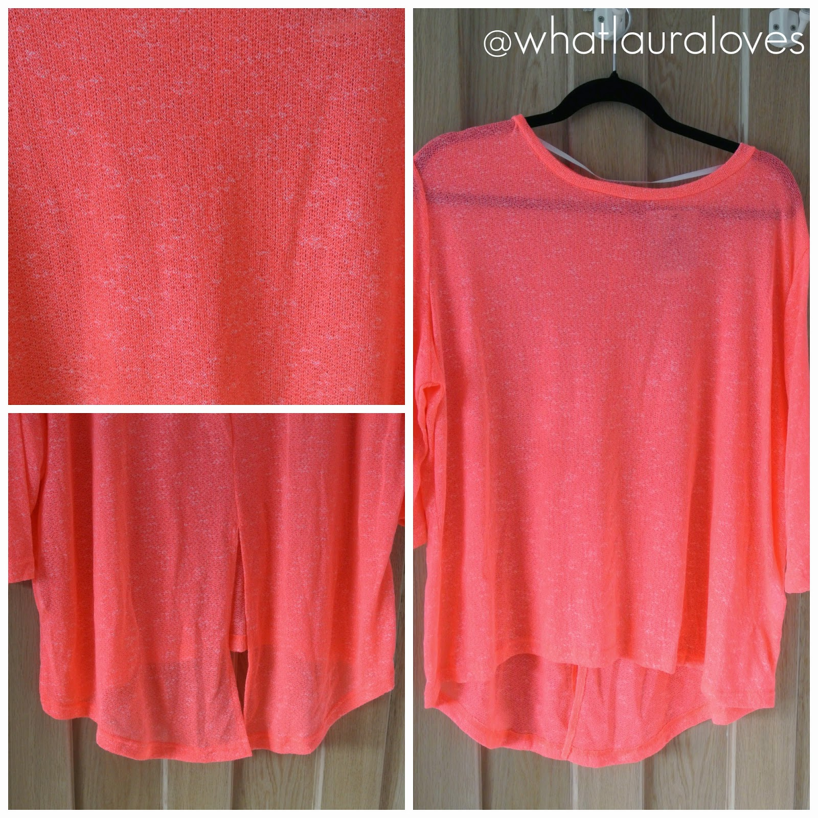 Coral Split Back Jumper from Primark